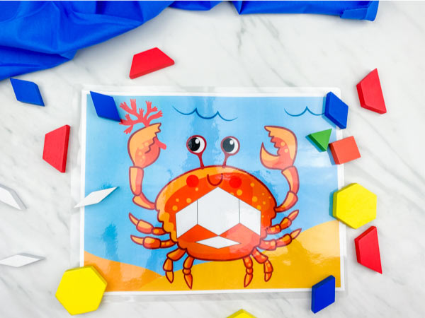 crab pattern block mat
