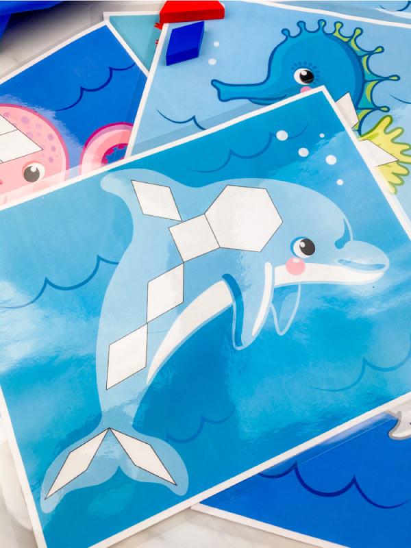dolphin pattern block mat