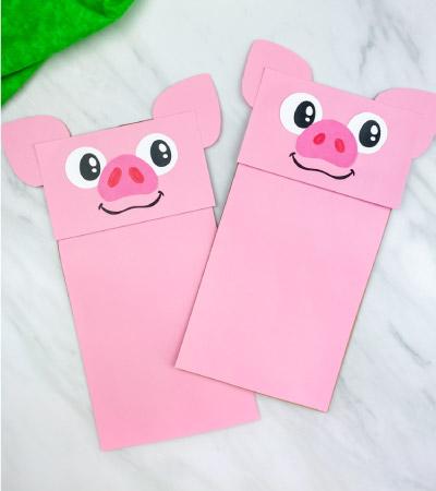 paper bag pig crafts