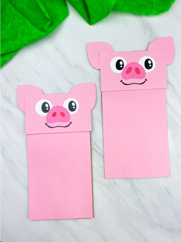 paper bag pig craft