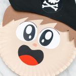 closeup of paper plate pirate boy