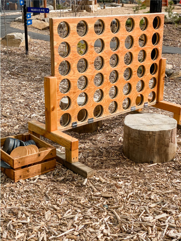 life size outdoor checkers game