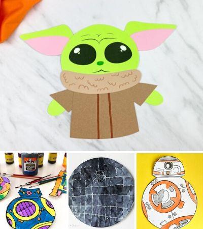 star wars craft image collage