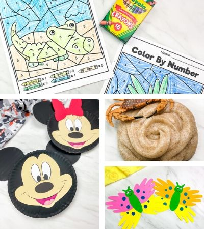 collage of kids activity images
