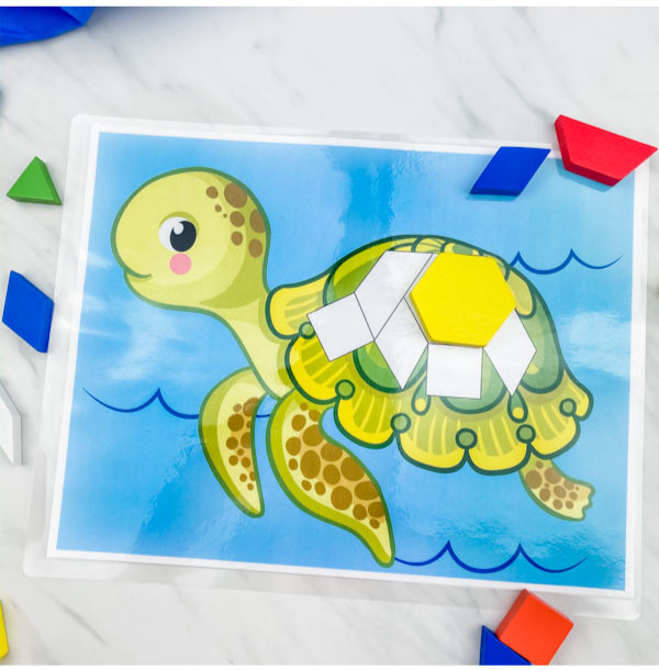 turtle pattern block mat