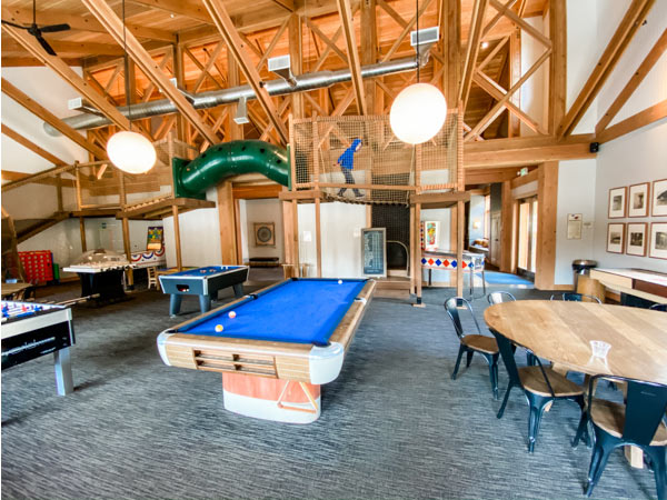 view of game room in Rush Creek Lodge
