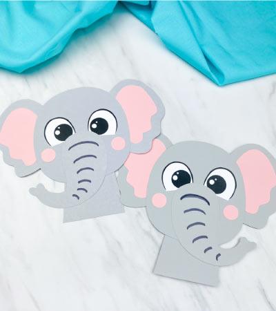 2 elephant paper crafts