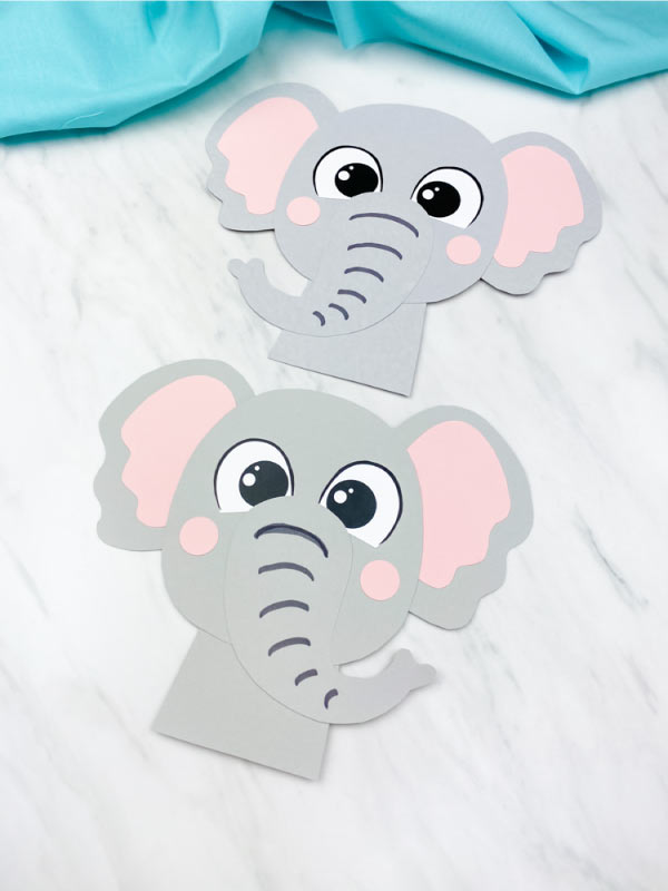 elephant printable craft