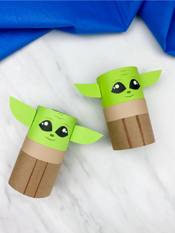 two toilet roll yoda crafts