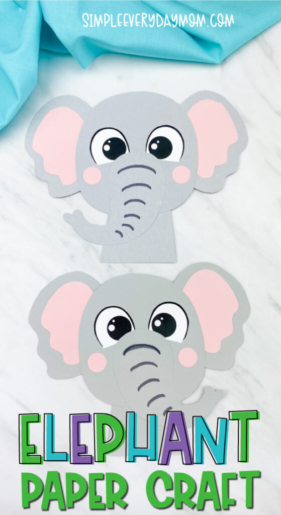 2 elephant paper crafts
