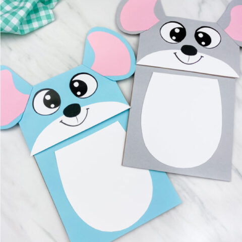 blue and gray mouse craft