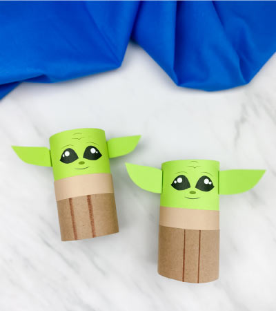 2 toilet paper roll baby yodas