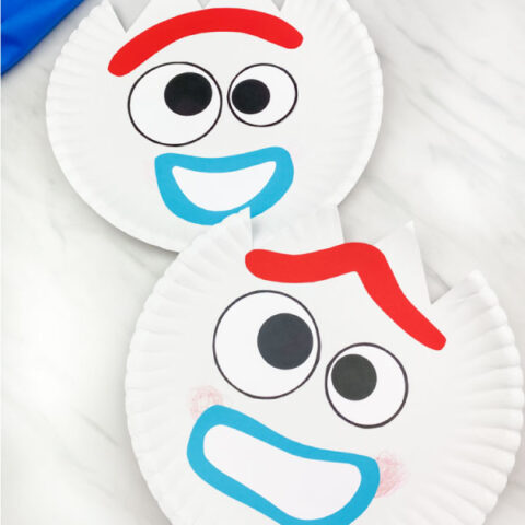 toy story paper plate forky craft