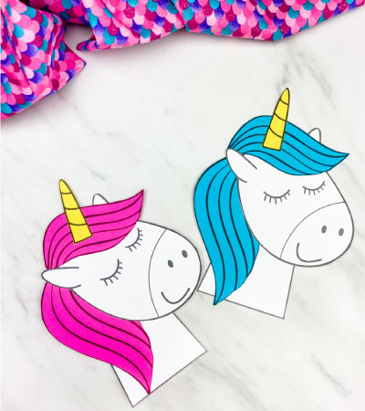 pink and blue haired unicorn crafts