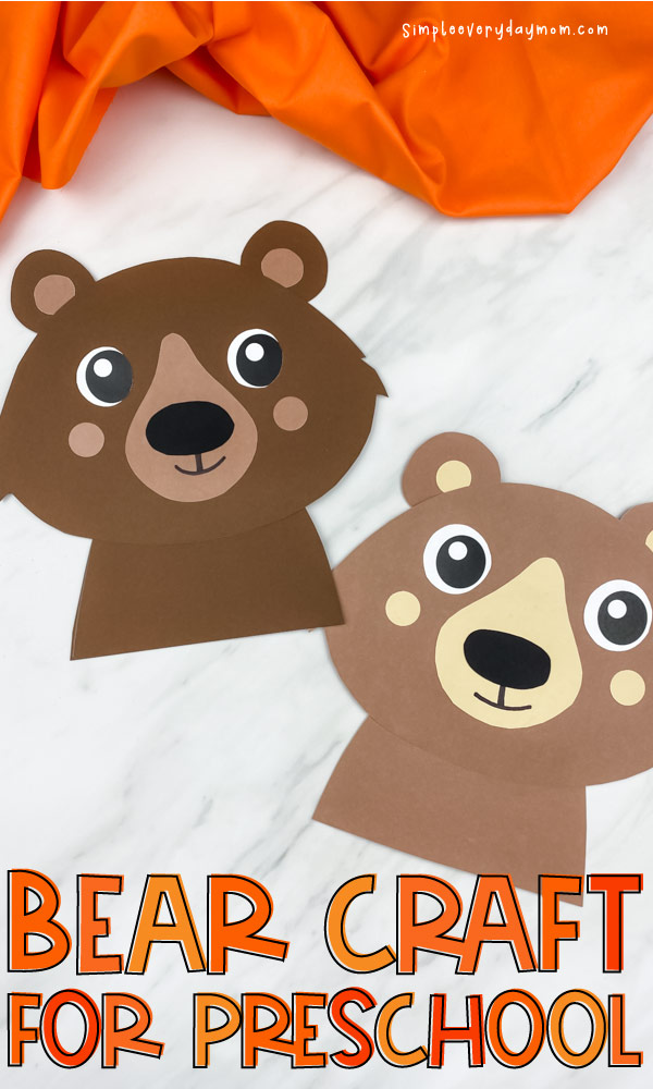closeup image of dark brown and light brown bear paper craft