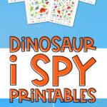 dinosaur i spy printables