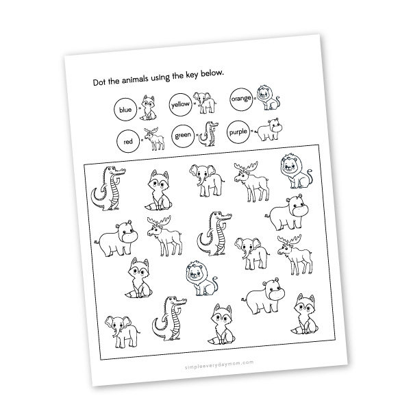 do a dot coloring page worksheet