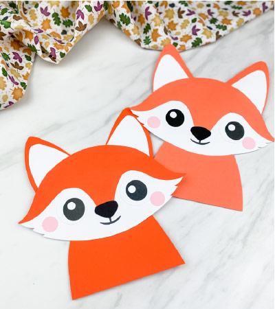 2 paper fox crafts