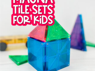 magna tiles with the words the best magna tile sets for kids at the top