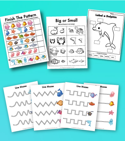 ocean animal worksheets for kids