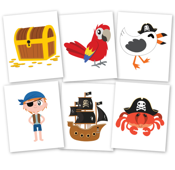 pirate flashcards