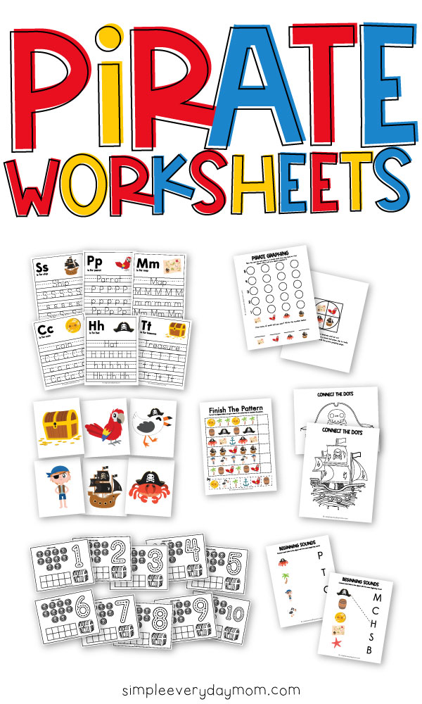 collection of pirate worksheets for kids