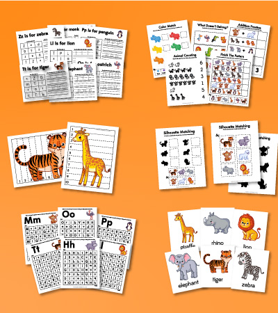 zoo animal worksheets for kids