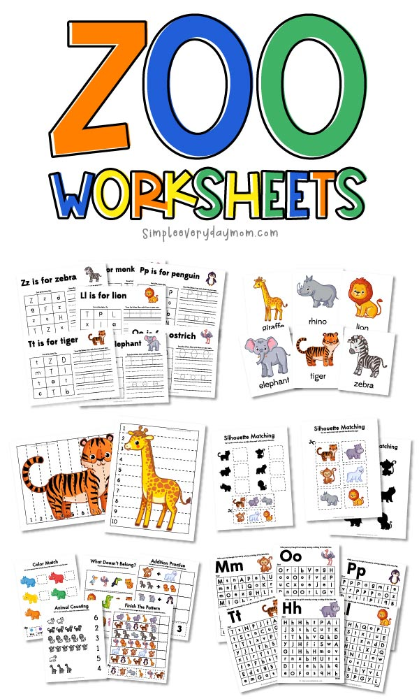 zoo animal worksheets
