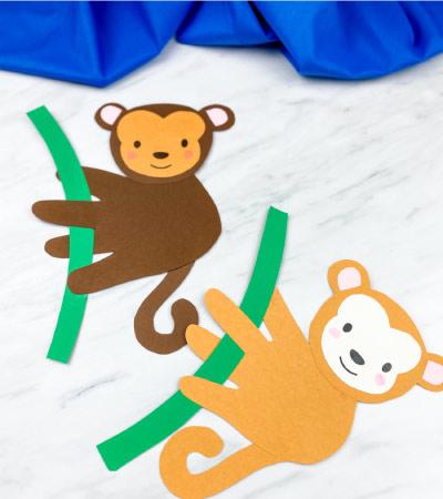 two handprint monkey crafts
