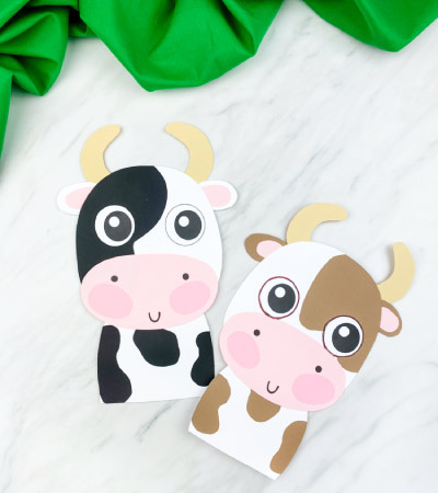 two cow paper crafts