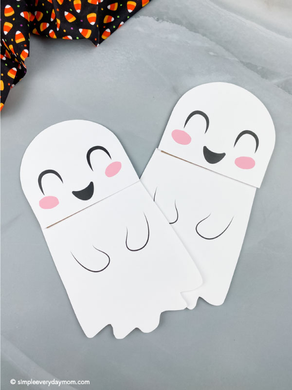 two paper bag ghost crafts