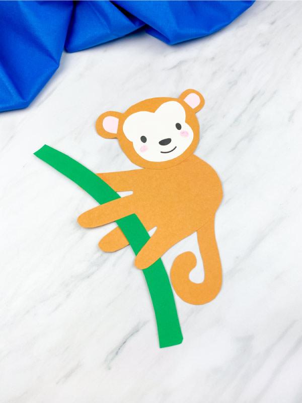 closeup of light brown handprint monkey