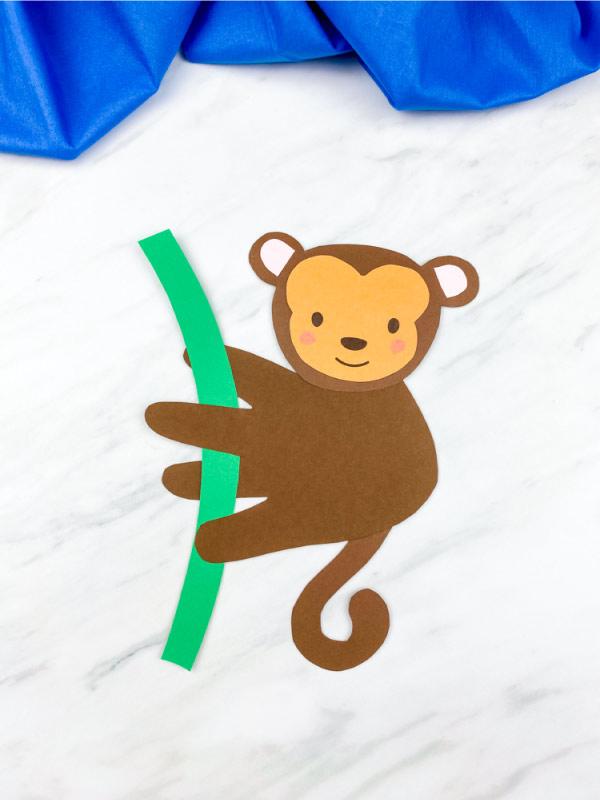 closeup of dark brown handprint monkey