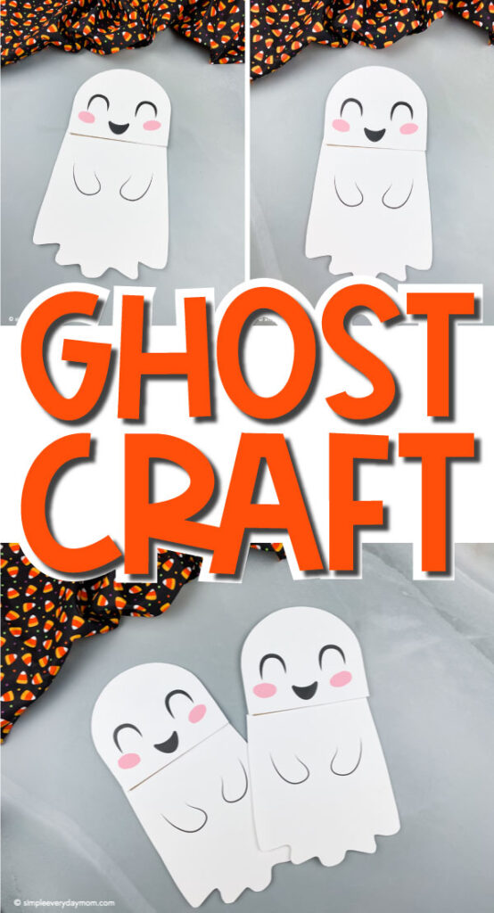 collage of ghost puppet images with the word ghost craft in the middle