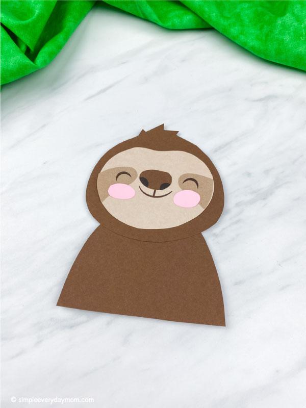 paper sloth craft