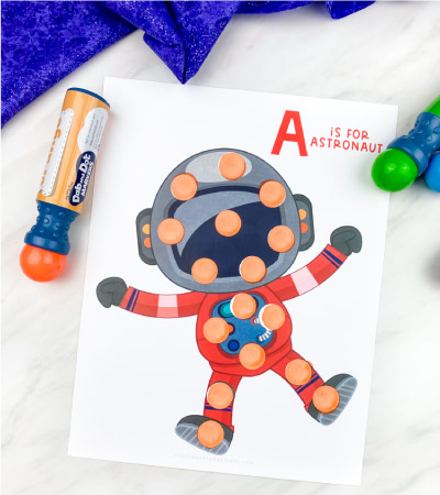 astronaut do a dot printables