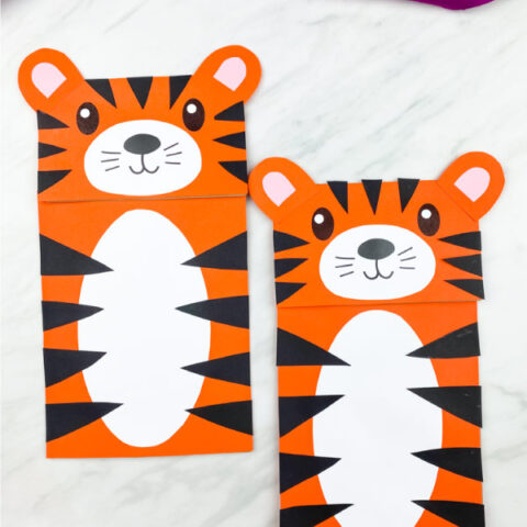 Paper Bag Tiger Craft
