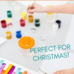 a child's hand painting with the words the best art gifts for kids on the top