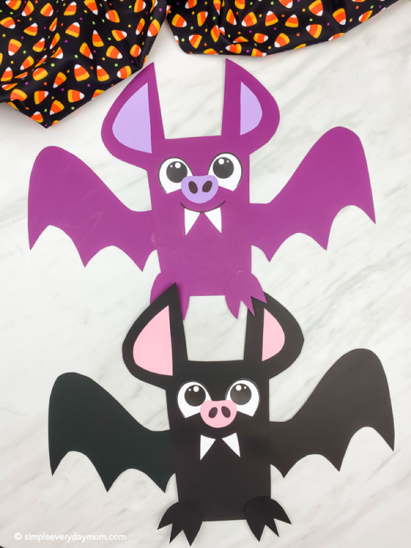 collage of bat craft images with the words