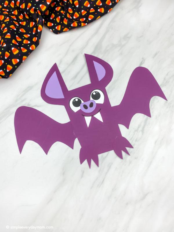 purple bat craft