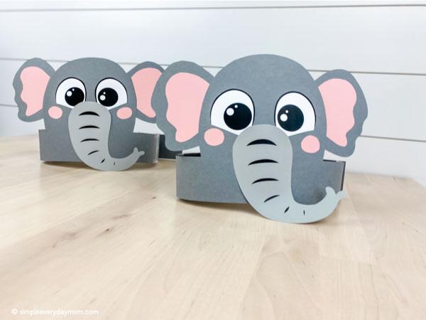 Two elephant headband crafts