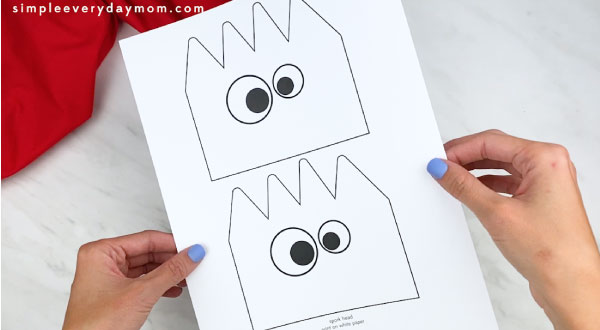 hands holding forky paper bag template