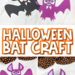 collage of bat craft images with the words halloween bat craft in the middle