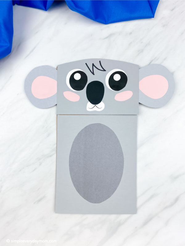 Koala paper bag puppet craft