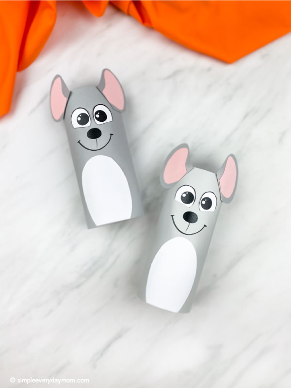 Two toilet paper roll mice crafts