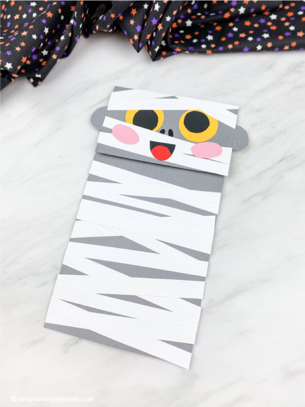 gray paper bag mummy craft