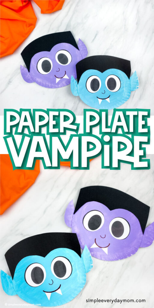 collage of vampire paper plate images with the words paper plate vampire in the middle