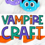 collage of vampire paper plate images with the words vampire craft in the middle