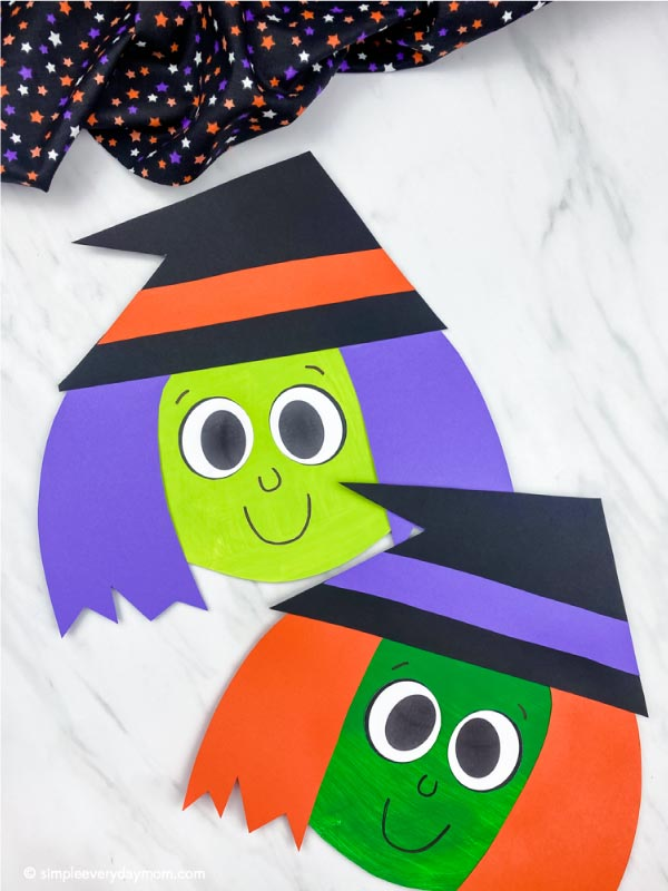 2 paper plate witch crafts for kids