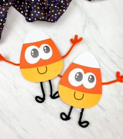 two paper candy corn crafts